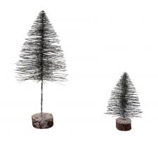 Lg Flat Bottle Brush Tree