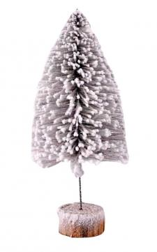 Lg Flocked Bottle Brush Tree
