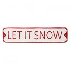 Metal LET IT SNOW Sign