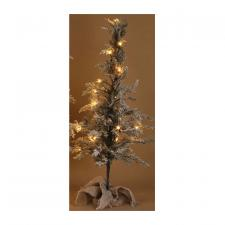 Med Flocked Tree w/LED Light