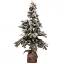 Med Flocked Tree w/LED Light - SPECIAL BUY! Original Price $