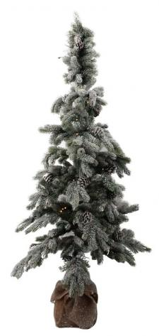 Lg Flocked Tree w/LED Light - SPECIAL BUY! Original Price $1