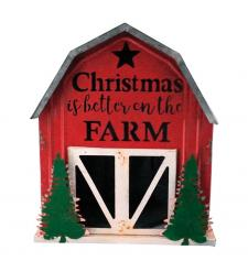 Metal CHRISTMAS ON THE FARM Barn