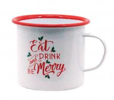 Metal EAT DRINK BE MERRY Mug