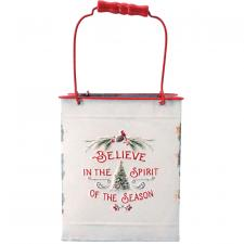 Metal BELIEVE IN THE SEASON Basket