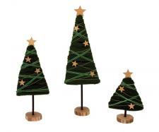 Lg Felted Christmas Tree w/Star