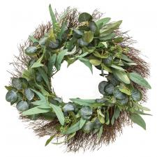 Green Leaf w/Seed Wreath