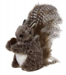 Lg Fabric Grey Fur Squirrel