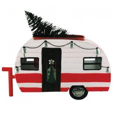 Metal Camper w/Tree & LED Light - SPECIAL BUY! Original Pric