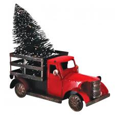 Sm Red Metal Truck w/Tree & LED Light - SPECIAL BUY! Origina