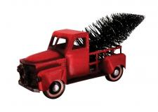 Lg Red Metal Truck w/Tree & LED Light  - SPECIAL BUY! Origin