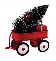 Red Metal Wagon w/Tree & LED Light - SPECIAL BUY! Original P