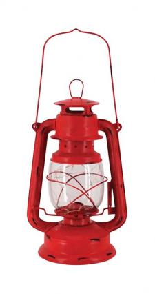 Lg Red Metal Lantern w/LED Light  - SPECIAL BUY! Original Pr