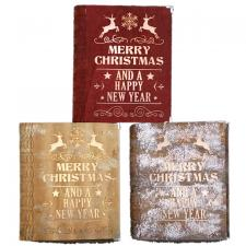 3 Asst Lg Merry Christmas Book w/LED Light - SPECIAL BUY! Or